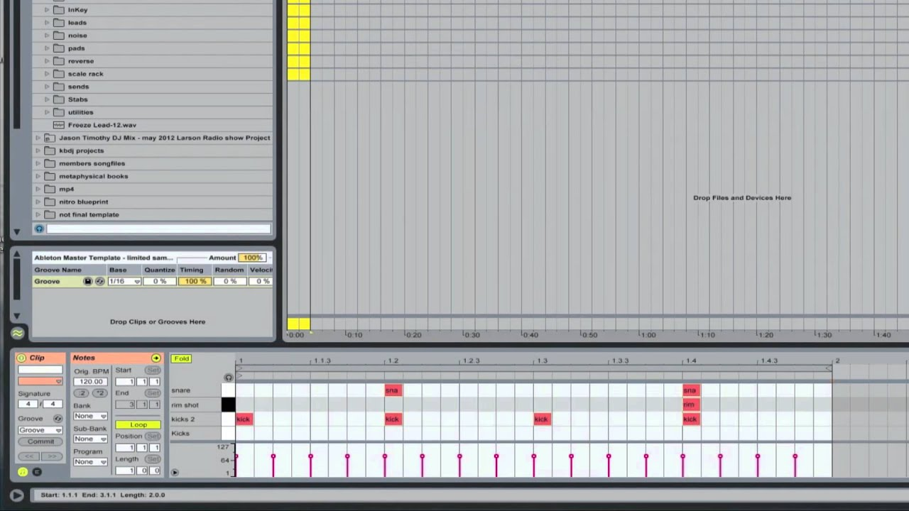 Ableton Master Template - Electronic Drum Kits Racks | Ableton ...