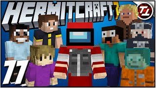 AMONG US Gameplay in Minecraft with 8 Hermits! - Hermitcraft 7: #77