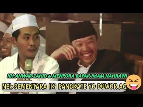 Bapak  ( MENPORA ) Imam Nahrawi Dibuat Senyum Kyai Anwar Zahid Terbaru November 2017
