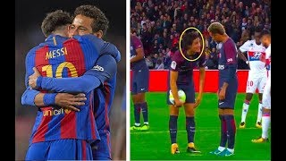 How Messi treats Neymar VS Cavani treats Neymar (Not Everyone Messi)