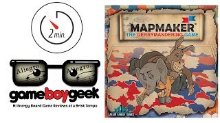 Mapmaker: The Gerrymandering Game (2-min Allegro) Review with the Game Boy Geek
