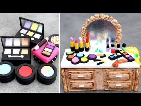 AMAZING MakeUp Mini Cakes   Pasteles De Maquillaje By Cakes StepbyStep