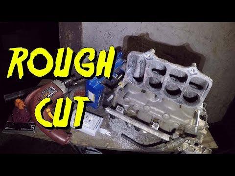 Port match h22 intake manifold to throttle body ! - YouTube