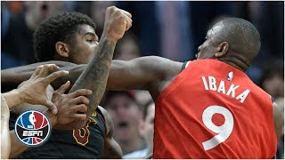 Serge Ibaka Marquese Chriss fight Cavaliers knock out Raptors 126-101  NBA Highlights