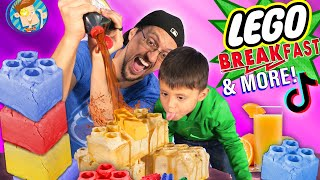 LEGO Waffle BREAK-Fast (FV Family Vlog w/ American Ninja Warrior Training)