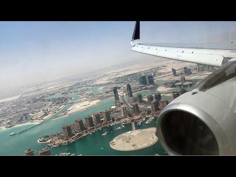 Qatar Airways Airbus A320-200 Kuwait to Doha *Full Flight ...