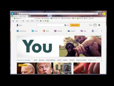 Make MSNthe default web page