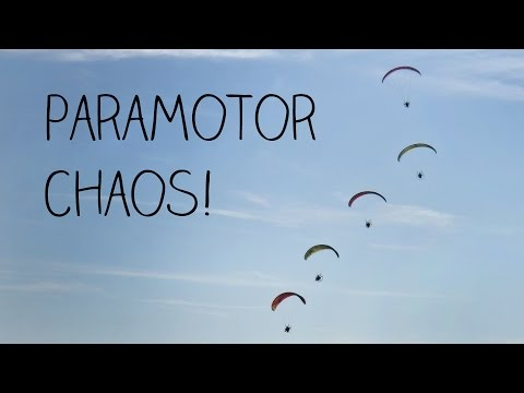 Flying With A Swarm Of Paramotors