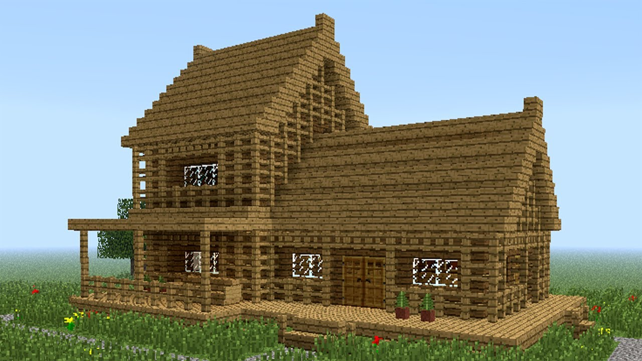 Minecraft how to build little wooden house 2 youtube for Simple house design made of wood