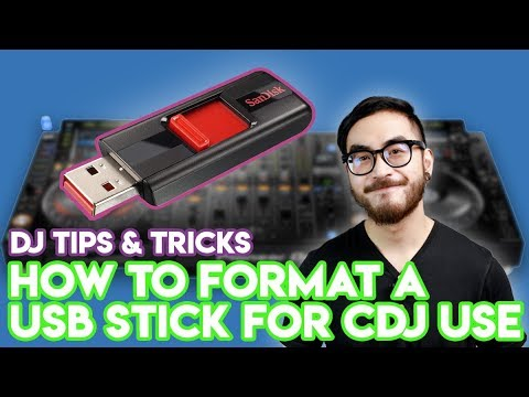 How To Format a USB Drive For CDJ Use - DJ Tips & Tricks - Works On Windows PCs and Macs (FAT32)