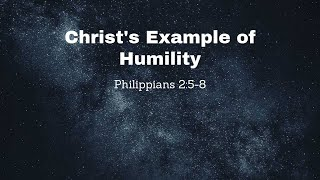 Christ's Example of Humility
