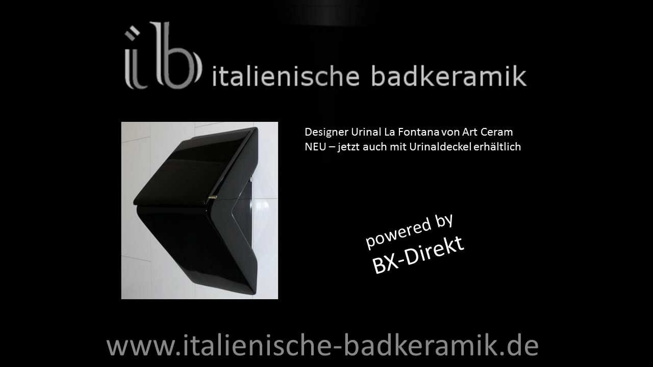 Badkeramik De.Schwarzes Designer Urinal Von Art Ceram Keramik Urinal La Fontana