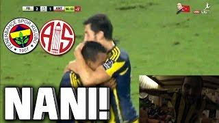 Fenerbahçe vs Antalyaspor 2-1 NANI INSANE FREE KICK LIVE REACTION