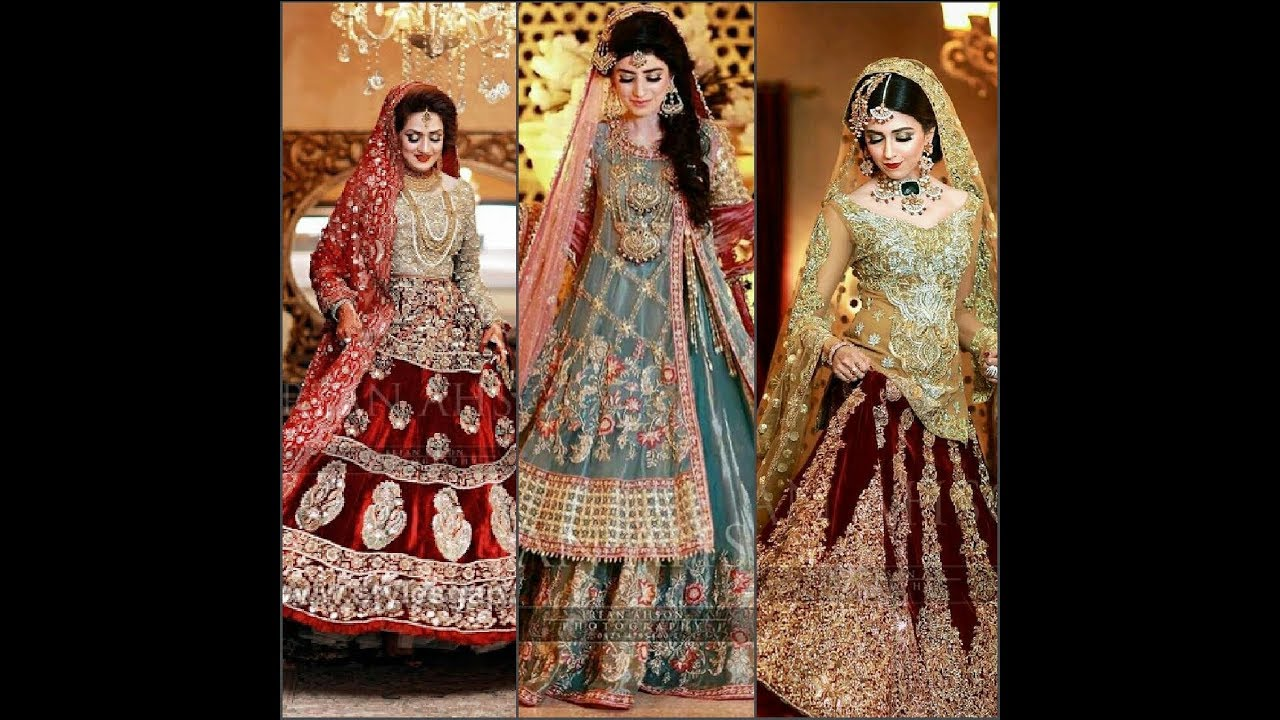 Pakistani bridal dresses 2019,20 Latest bridal designer dresses
