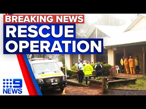 Two canyoners missing at Wallangambe | 9 News Australia thumbnail