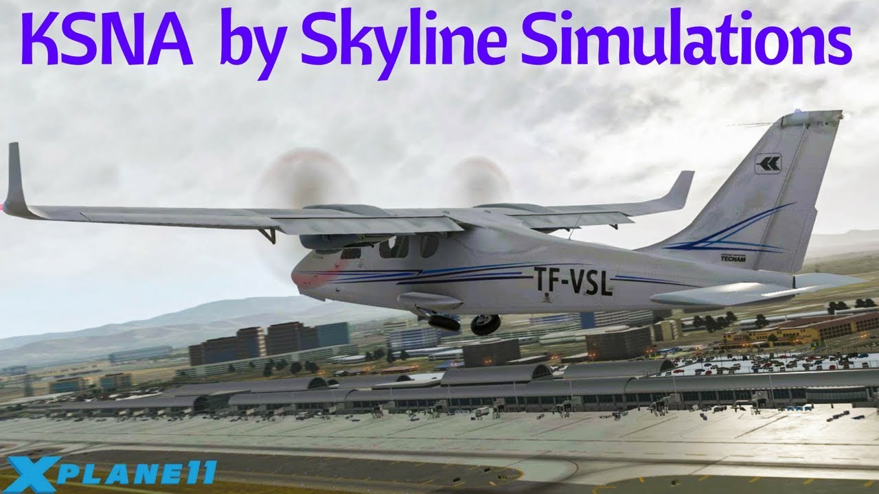 X-Plane 11 - Scenery Review of KSNA by Skyline Simulations by Luna's World