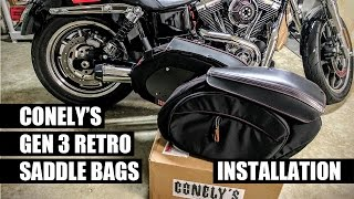 Conely's Retro Saddle Bags Installation