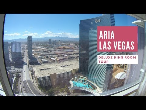 Travel Blog: Our Stay at ARIA Las Vegas, Deluxe King Room, mountain view vs strip view,  2017
