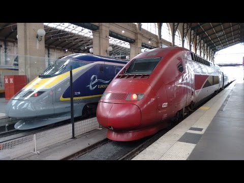 Paris Gare du Nord mit TGV, Thalys und Eurostar