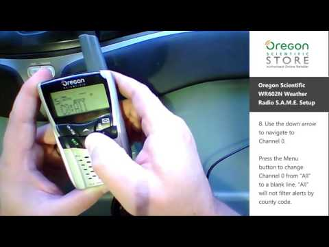 Oregon Scientific WR602N S.A.M.E. Weather Radio Setup