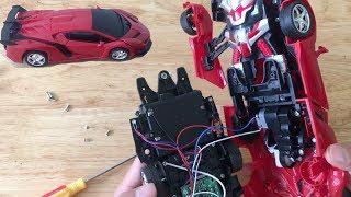 Tháo Ô tô Điều Khiển Từ Xa Biến Hình Robot Để Xem Bên Trong Có Gì | Chị Kiều Hương