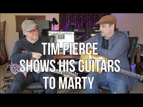 Tim Pierce Shows Some of His Favorite Guitars to Marty Schwartz
