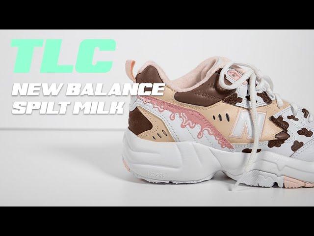 TLC CUSTOM SNEAKERS // SPILT MILK NEW BALANCES