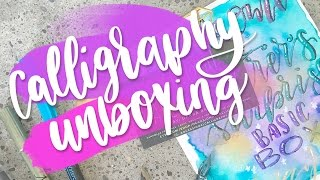 Bounce Lettering Tutorial and Calligraphy Subscription Unboxing