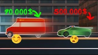Ambulance is now the fastest car in the Jailbreak😵 ! / Roblox
