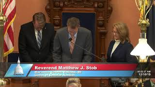 Sen. Nesbitt welcomes Rev. Stob to the Michigan Senate