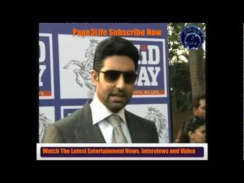 Abhishek Bachchan Promoting Players at Race Course
