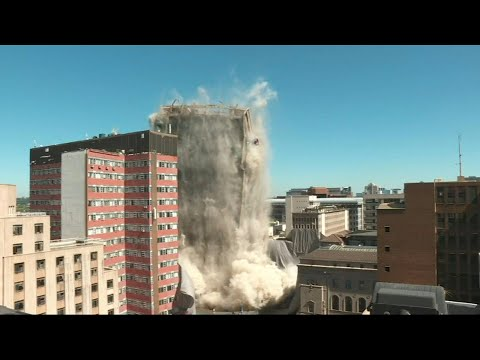 Johannesburg building demolished | AFP