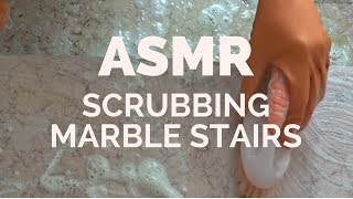 ASMR Scrubbing Marble Stairs 🔊🎧