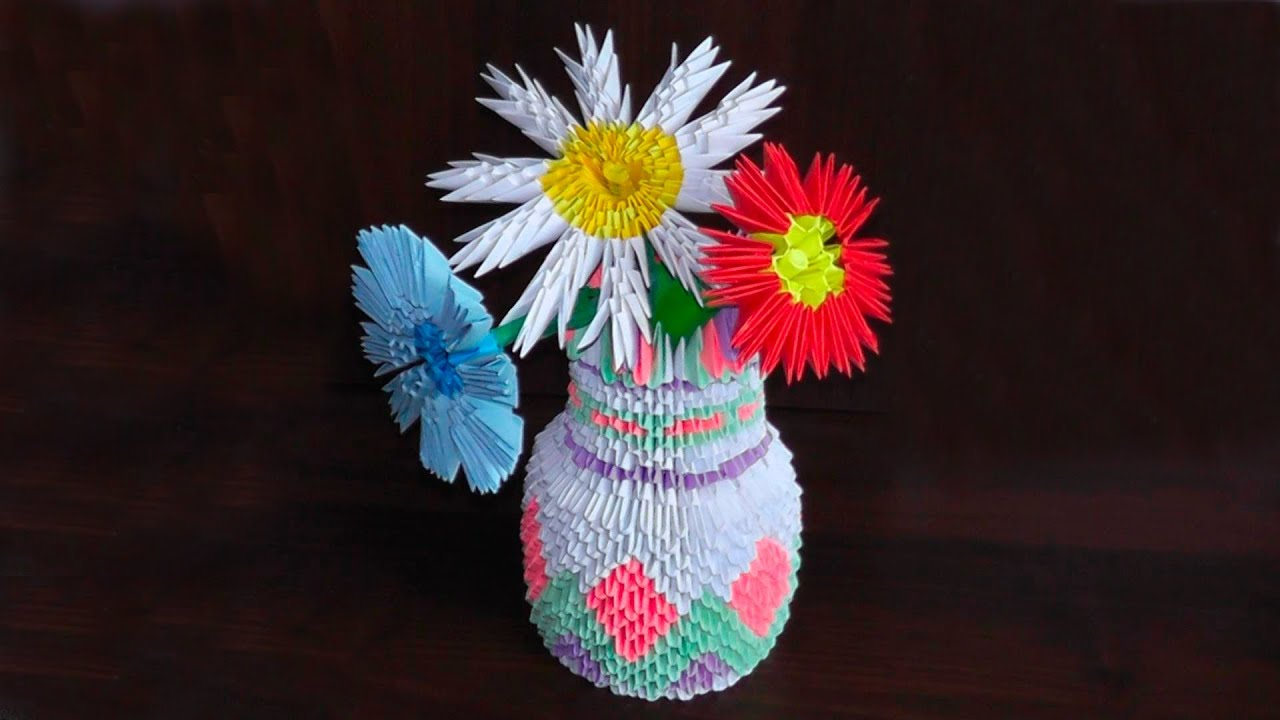 3d origami vase tutorial instruction youtube mightylinksfo
