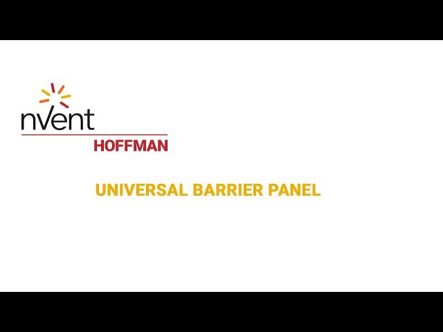 Universal Barrier Panel | nVent HOFFMAN
