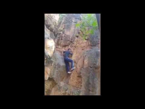 Mountain falls to