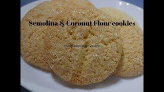 Semolina and Coconut Flour Cookies