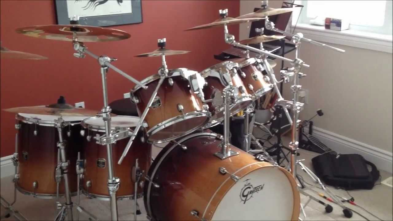My Gretch 7 Piece Catalina Maple Drum Kit With Sabian Cymbals Youtube