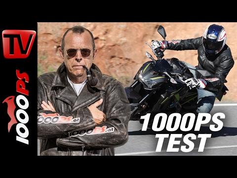 1000PS Test - Kawasaki Z900 2017 | Wow! | Hammer-Naked ohne Elektronik