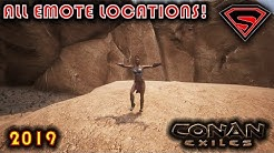 CONAN EXILES ALL EMOTE LOCATIONS - HOW TO FIND ALL EMOTES IN CONAN EXILES