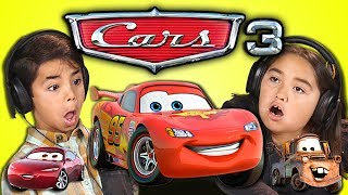 KIDS REACT TO CARS 3! (END OF LIGHTNING MCQUEEN?)