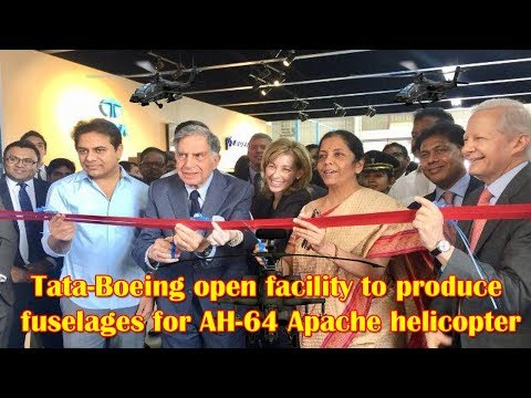 Tata-Boeing Inaugurate Apache Helicopter Fuselages Facility