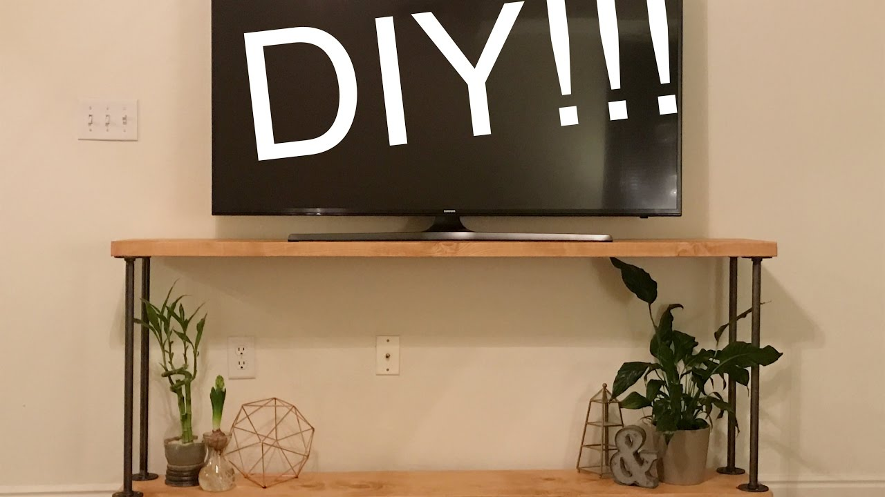 Diy Rustic Industrial Tv Stand Youtube