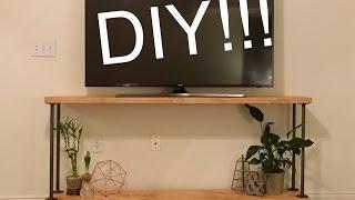 DIY Rustic Industrial TV Stand