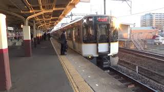 近鉄5820系5851編成快速急行大阪上本町行き到着発車