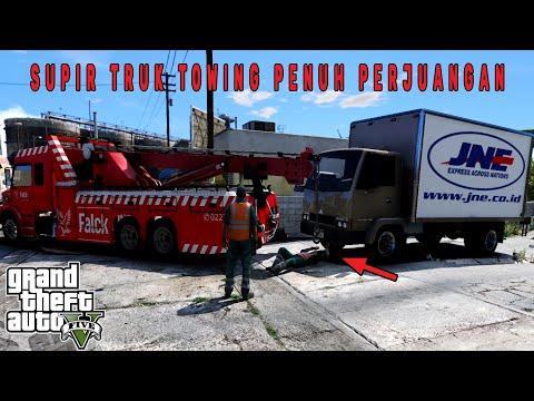 Kerja Keras Jadi Sopir Truk Derek! GTA 5 Mod Indonesia