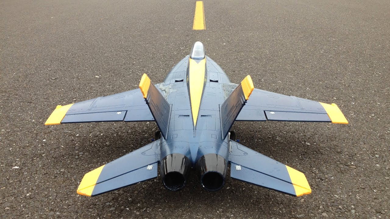 Jet Crash - RC F-18 Super Hornet 64mm EDF Jet Plus Bonus RC Jet ...