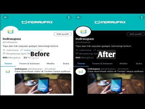Cara mengubah tampilan twitter android mode gelap