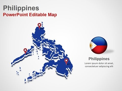 Philippines PowerPoint Map Slides - DigitalOfficePro #027M00 - YouTube