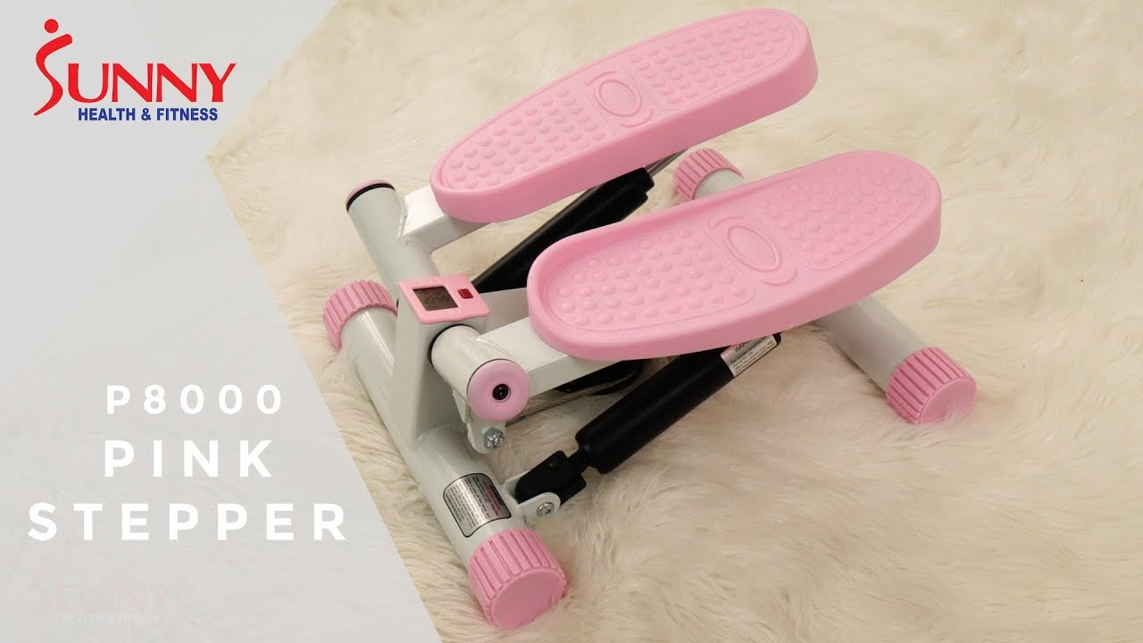 6d30320bb22 Sunny Health & Fitness P8000 Pink Adjustable Twist Stepper - YouTube